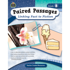 TCR2918 Paired Passages: Linking Fact to Fiction Grade 8 Image