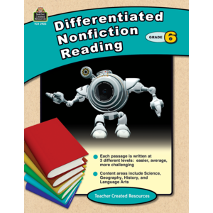 TCR2923 Differentiated Nonfiction Reading Grade 6 Image