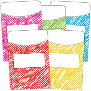 TCR3053 Scribble Library Pockets - Multi-Pack Image