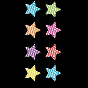 TCR3073 Scribble Stars Mini Stickers Image