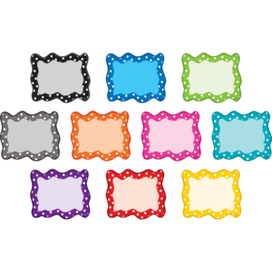 TCR3098 Polka Dots Blank Cards Mini Accents Image