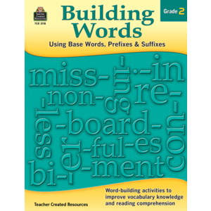 TCR3118 Building Words: Using Base Words, Prefixes and Suffixes Gr 2 Image