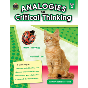TCR3166 Analogies for Critical Thinking Grade 3 Image