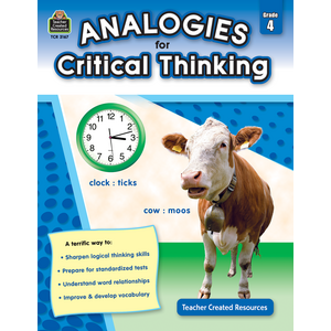 TCR3167 Analogies for Critical Thinking Grade 4 Image