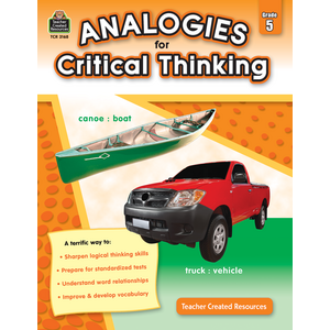 TCR3168 Analogies for Critical Thinking Grade 5 Image