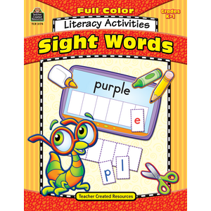 TCR3174 Full-Color Literacy Activities: Sight Words Image