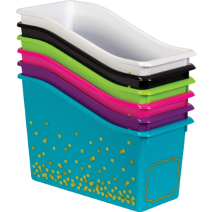 TCR32234 Assorted Confetti Book Bins Set 6-Pack Image