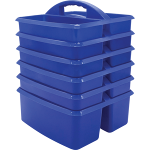 TCR32250 Blue Plastic Storage Caddies 6-Pack Image