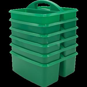 TCR32251 Green Plastic Storage Caddies 6-Pack Image