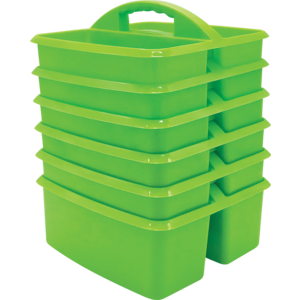 TCR32252 Lime Plastic Storage Caddies 6-Pack Image