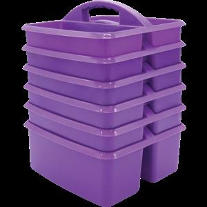 TCR32256 Purple Plastic Storage Caddies 6-Pack Image