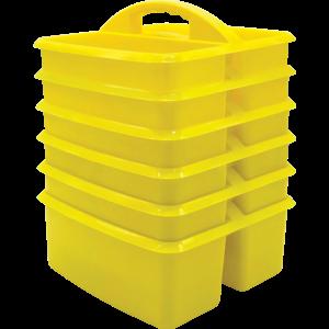 TCR32259 Yellow Plastic Storage Caddies 6-Pack Image