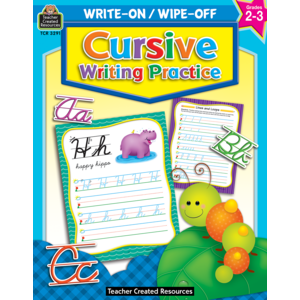 TCR3291 Cursive Writing Practice Write-On Wipe-Off Book Image