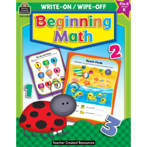 TCR3293 Beginning Math Write-On Wipe-Off Book Image