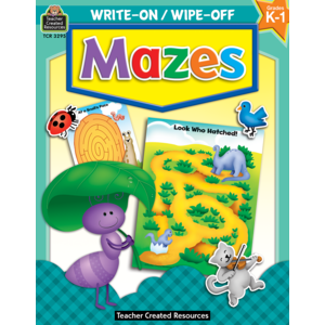 TCR3295 Mazes Write-On Wipe-Off Book Image
