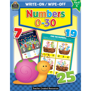 TCR3296 Numbers 0-30 Write-On Wipe-Off Book Image
