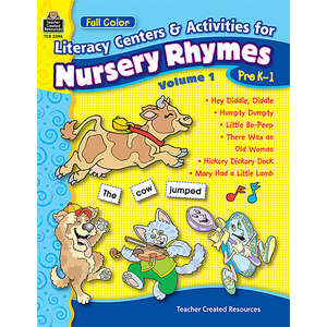 TCR3396 Full-Color Literacy Centers & Activities for Nursery Rhymes Volume 1 Image