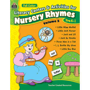 TCR3397 Full-Color Literacy Centers & Activities for Nursery Rhymes Volume 2 Image