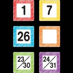TCR3426 Scribble Calendar Days Image