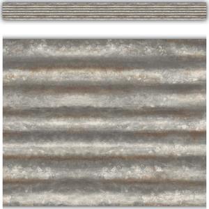 TCR3428 Corrugated Metal Straight Border Trim Image