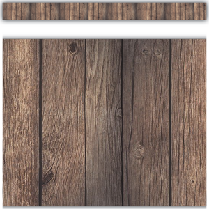 TCR3459 Dark Wood Straight Border Trim Image
