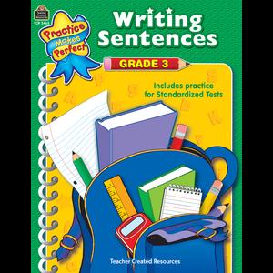 TCR3465 Writing Sentences Grade 3 Image