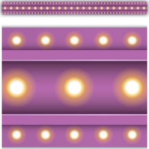 TCR3478 Purple Marquee Straight Border Trim Image