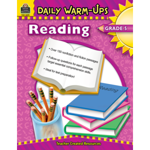 TCR3491 Daily Warm-Ups: Reading, Grade 5 Image
