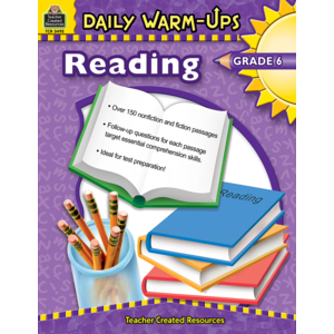 TCR3492 Daily Warm-Ups: Reading, Grade 6 Image