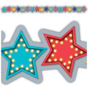 TCR3495 Marquee Stars Die-Cut Border Trim Image