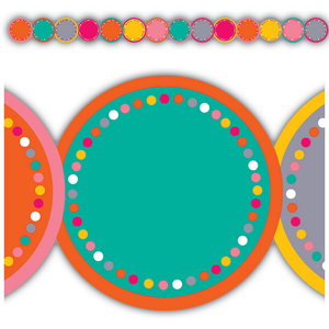 TCR3499 Tropical Punch Circles Die-Cut Border Trim Image