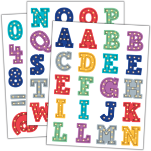TCR3519 Marquee Alphabet Stickers Image