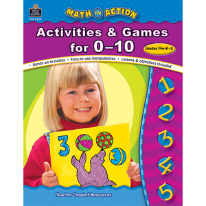 TCR3529 Math In Action: Activities & Games for 0-10 Image
