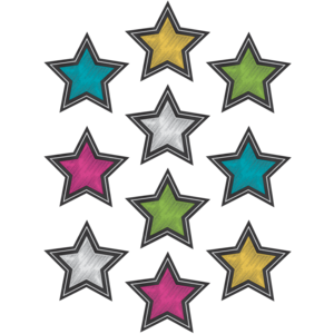 TCR3550 Chalkboard Brights Stars Accents Image