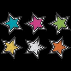 TCR3554 Chalkboard Brights Stars Mini Accents Image
