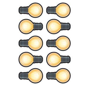 TCR3557 White Light Bulbs Accents Image
