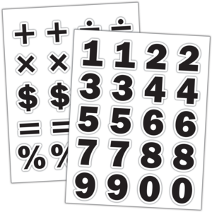 TCR3558 Black Numbers Stickers Image