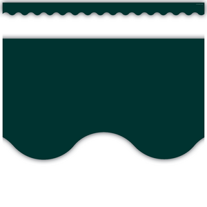TCR3568 Hunter Green Scalloped Border Trim Image