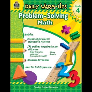 TCR3578 Daily Warm-Ups: Problem Solving Math Grade 4 Image