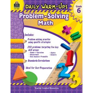 TCR3580 Daily Warm-Ups: Problem Solving Math Grade 6 Image