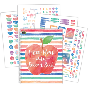 TCR3586 Watercolor Lesson Plan and Record Book Image