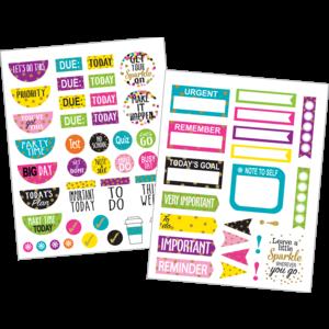 TCR3589 Confetti Planner Stickers Image