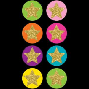 TCR3602 Confetti Stars Mini Stickers Image