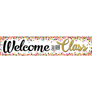 TCR3606 Confetti Welcome to Our Class Banner Image