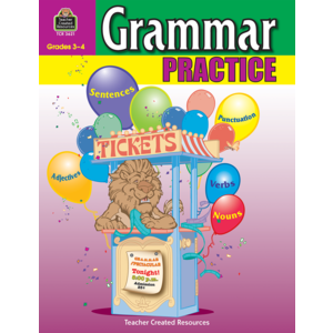 TCR3621 Grammar Practice for Grades 3-4 Image