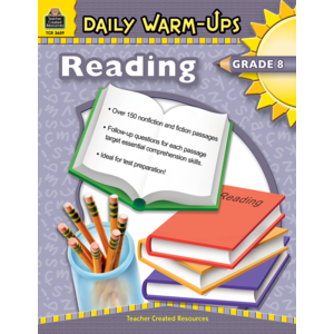 TCR3659 Daily Warm-Ups: Reading Grade 8 Image