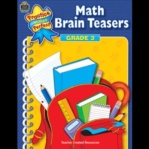 TCR3753 Math Brain Teasers Grade 3 Image