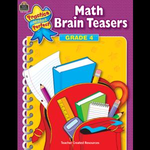 TCR3754 Math Brain Teasers Grade 4 Image