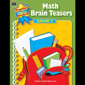 TCR3755 Math Brain Teasers Grade 5 Image