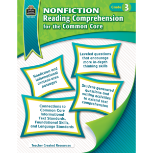 TCR3824 Nonfiction Reading Comprehension for the Common Core Grade 3 Image